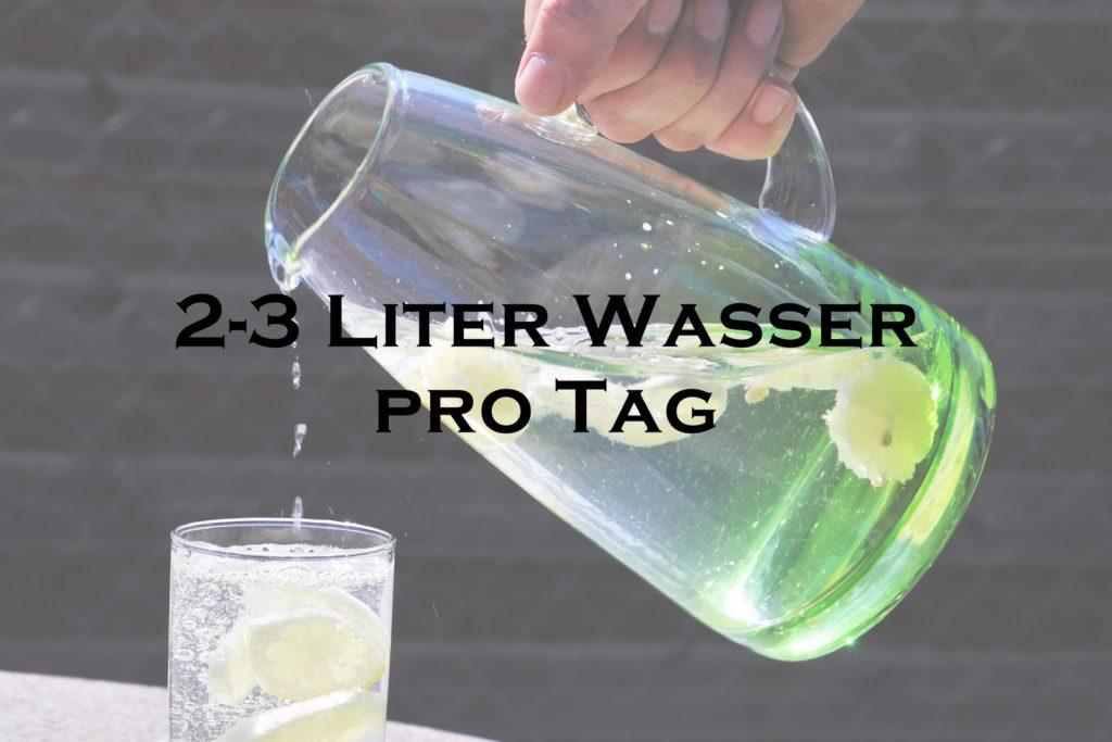 2-3 Liter Wasser pro Tag